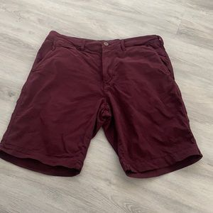 American Eagle classic maroon shorts size 31